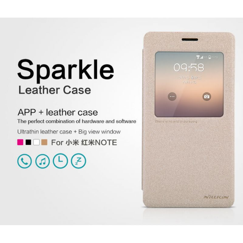 Nillkin Sparkle Series New Leather case for Xiaomi RedMi Note (Hongmi Note Redmi Note) order from official NILLKIN store