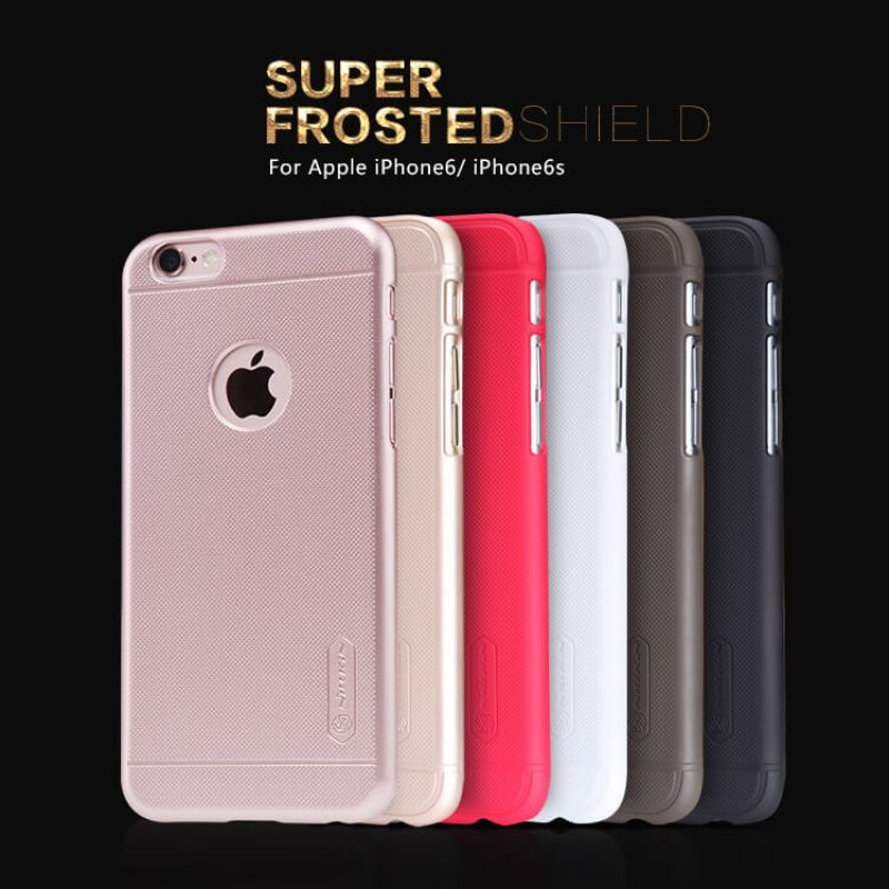Nillkin Super Frosted Shield Matte cover case for Apple iPhone 6 / 6S + free screen protector order from official NILLKIN store