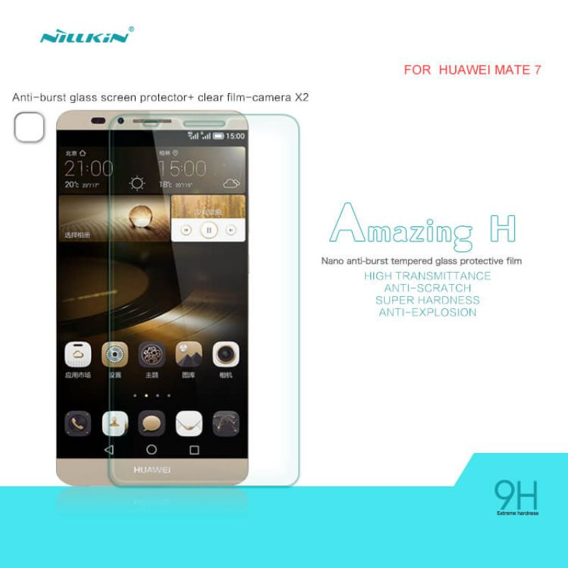 Nillkin Amazing H tempered glass screen protector for Huawei Ascend Mate 7 order from official NILLKIN store