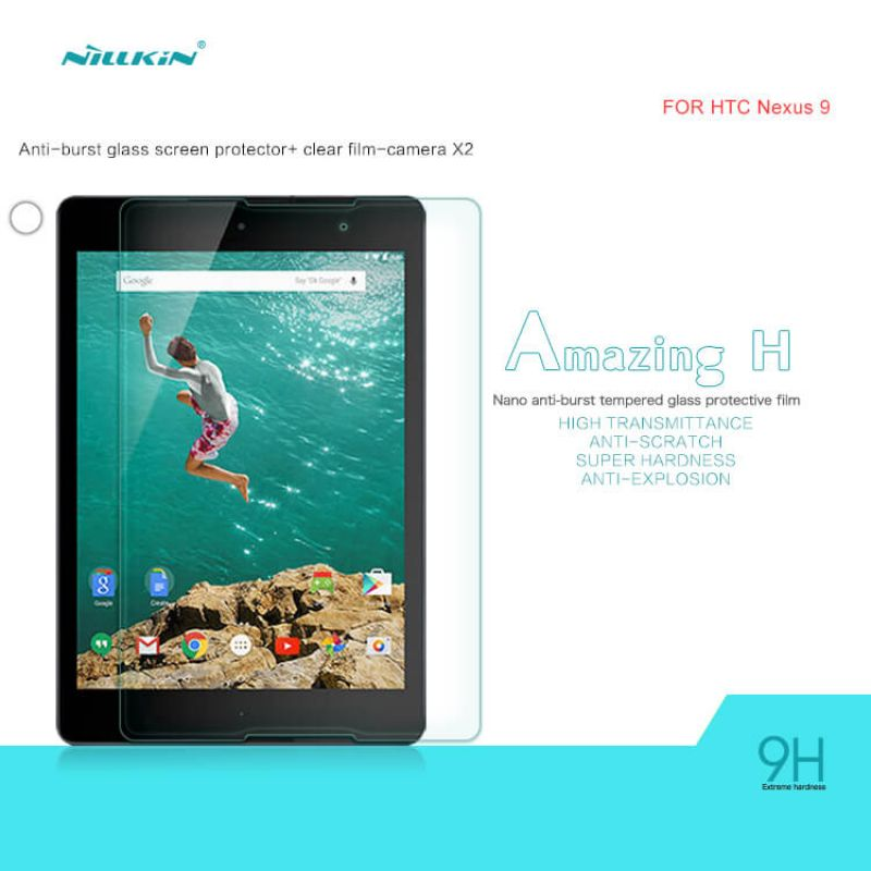 Nillkin Amazing H tempered glass screen protector for HTC Nexus 9 order from official NILLKIN store