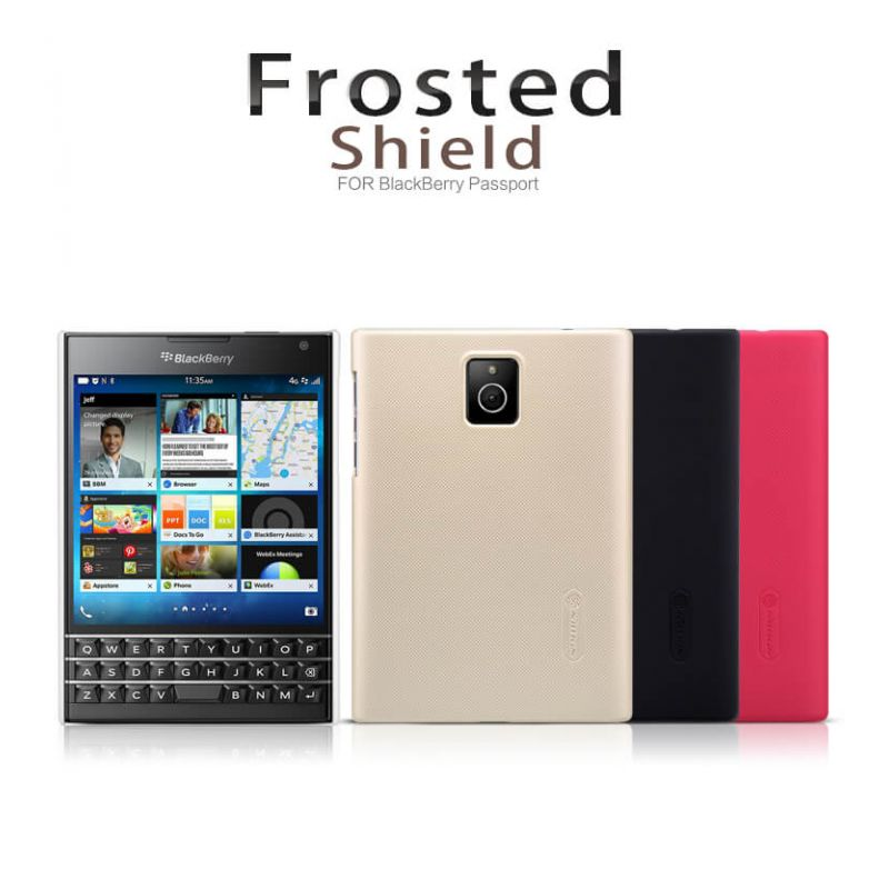 Nillkin Super Frosted Shield Matte cover case for Blackberry Passport Q30 + free screen protector order from official NILLKIN store