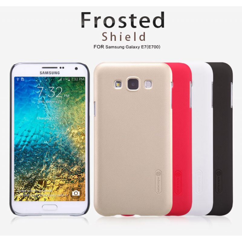 Nillkin Super Frosted Shield Matte cover case for Samsung Galaxy E7 (E700) + free screen protector order from official NILLKIN store