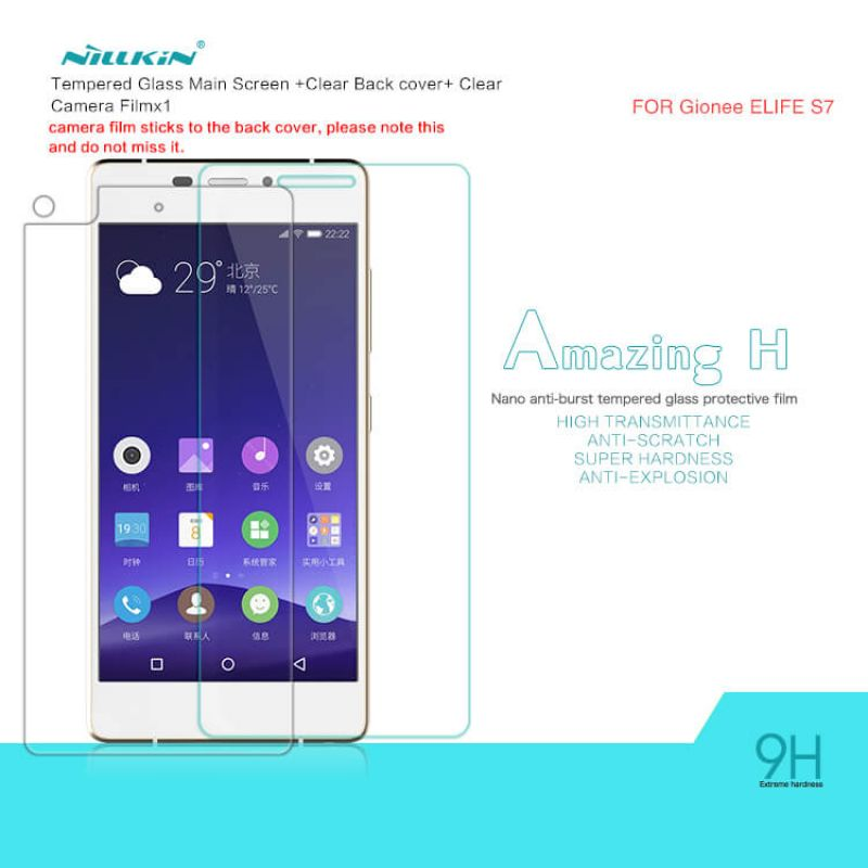 Nillkin Amazing H tempered glass screen protector for Gionee Elife S7 order from official NILLKIN store