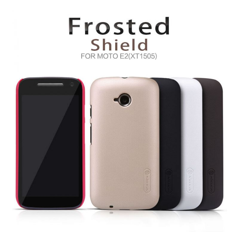 Nillkin Super Frosted Shield Matte cover case for Motorola Moto E2 (XT1527 XT1511 XT1505) + free screen protector order from official NILLKIN store