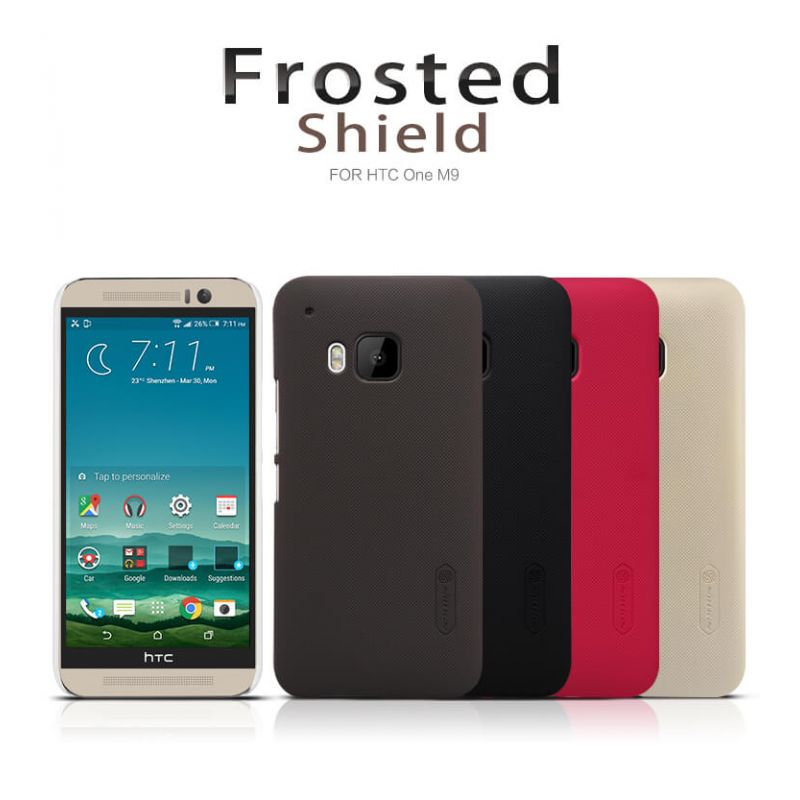 Nillkin Super Frosted Shield Matte cover case for HTC ONE M9 (Hima) + free screen protector order from official NILLKIN store