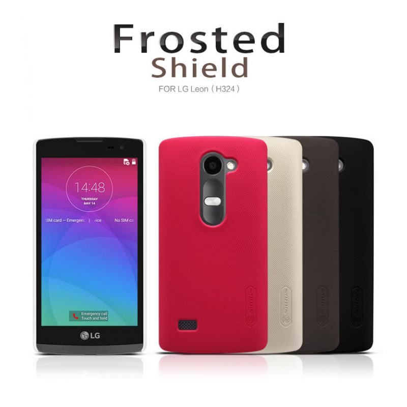 Nillkin Super Frosted Shield Matte cover case for LG Leon (H324 H340N H326T) + free screen protector order from official NILLKIN store