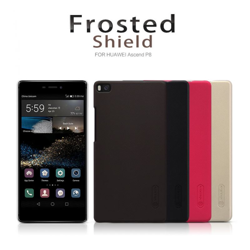 Nillkin Super Frosted Shield Matte cover case for Huawei Ascend P8 + free screen protector order from official NILLKIN store