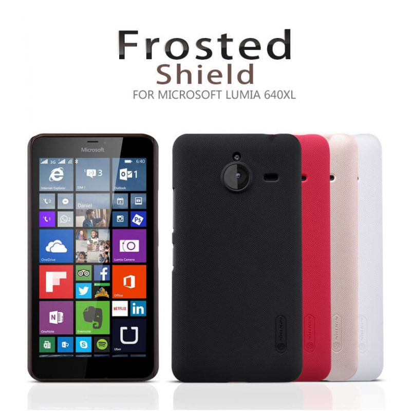 Nillkin Super Frosted Shield Matte cover case for Microsoft Lumia 640XL (Nokia Lumia 640 XL) + free screen protector order from official NILLKIN store