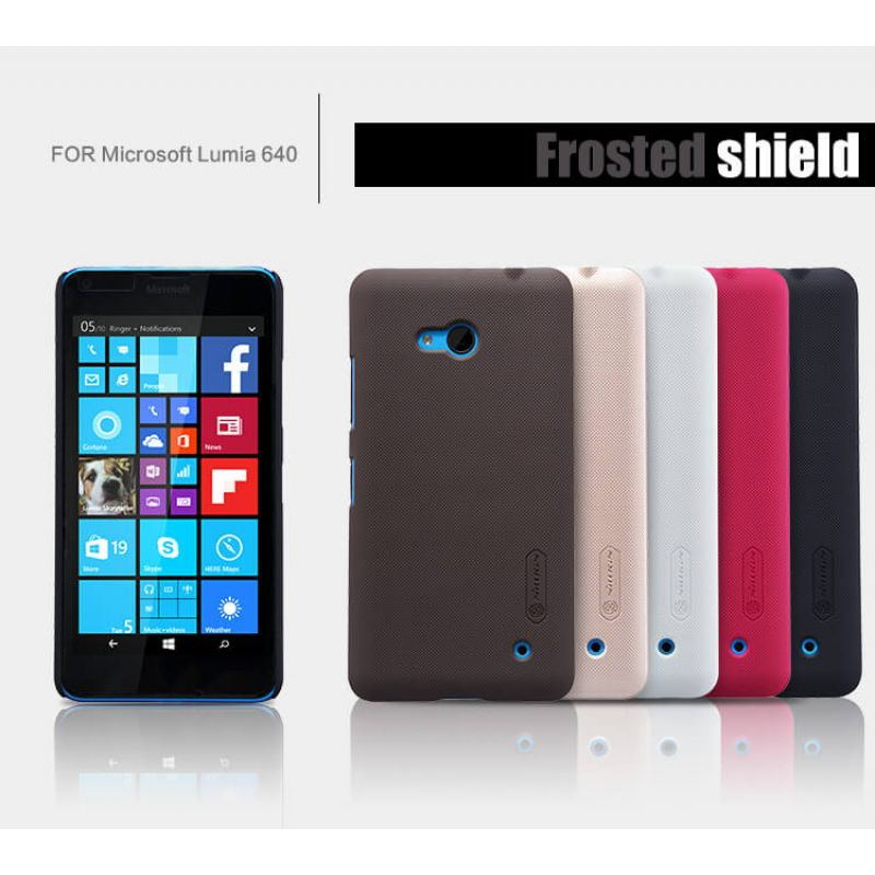 Nillkin Super Frosted Shield Matte cover case for Microsoft Lumia 640 (Nokia Lumia 640) + free screen protector order from official NILLKIN store