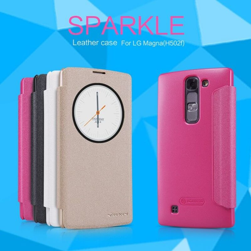 Nillkin Sparkle Series New Leather case for LG Magna (H502F H500F C90) order from official NILLKIN store