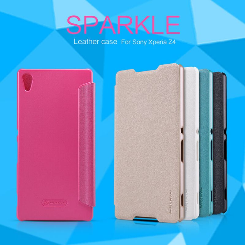 Nillkin Sparkle Series New Leather case for Sony Xperia Z4 / Z3+ (E6533 E6553 Z3X Z3 Neo) order from official NILLKIN store