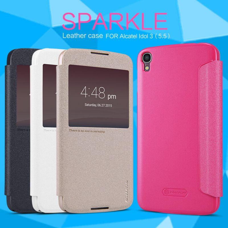 Nillkin Sparkle Series New Leather case for Alcatel Idol 3 (5.5) (6045/6045Y) order from official NILLKIN store