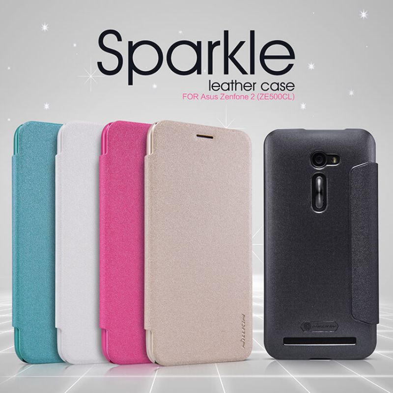 Nillkin Sparkle Series New Leather case for ASUS Zenfone 2 5.0 (ZE500CL) order from official NILLKIN store