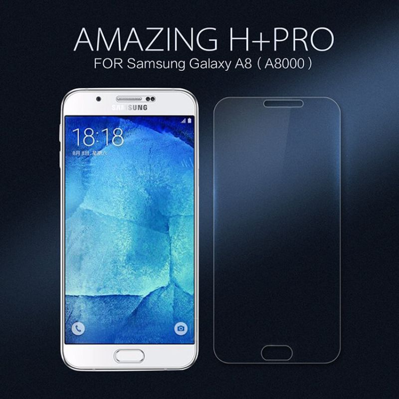 nillkin amazing h pro tempered glass screen protector for samsung galaxy a8 a8000 a8 a8000. Black Bedroom Furniture Sets. Home Design Ideas
