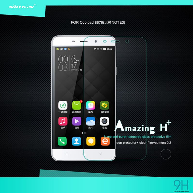 Nillkin Amazing H tempered glass screen protector for Coolpad Note 3 8676 / Coolpad Note 3/F3) order from official NILLKIN store