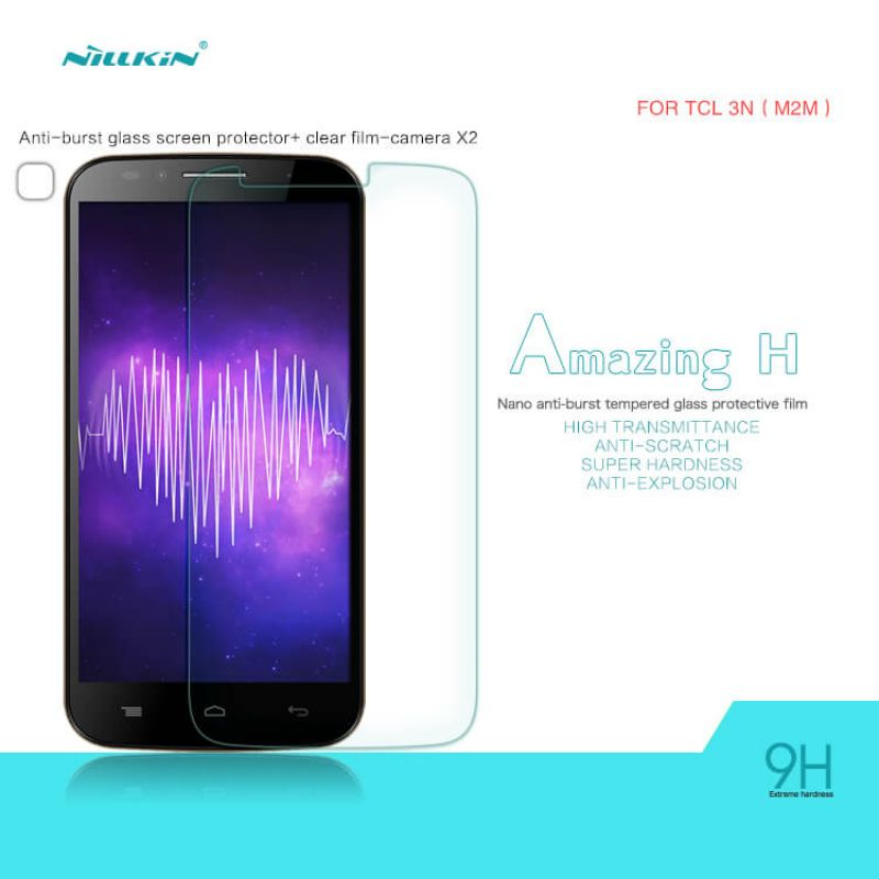 Nillkin Amazing H tempered glass screen protector for TCL M2M (3N M2U S720T) order from official NILLKIN store