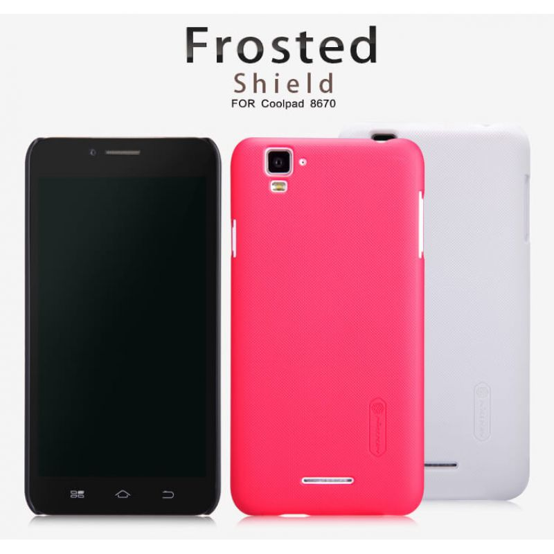 Nillkin Super Frosted Shield Matte cover case for Coolpad Note 8670 + free screen protector order from official NILLKIN store