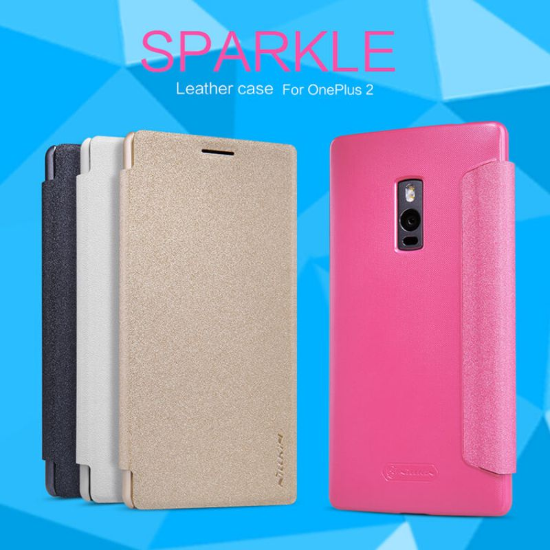 Nillkin Sparkle Series New Leather case for Oneplus 2 (Oneplus Two OnePlus2 A2001) order from official NILLKIN store