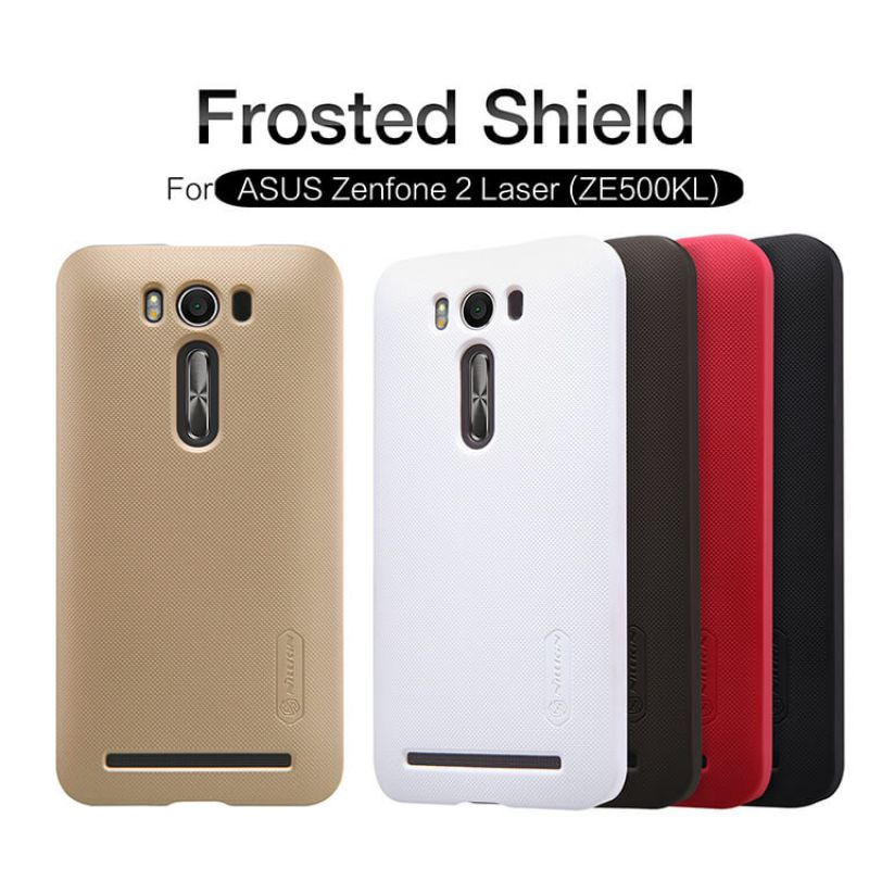 Nillkin Super Frosted Shield Matte cover case for ASUS ZenFone 2 Laser 5.0 (ZE500KL ZE500KG) + free screen protector order from official NILLKIN store