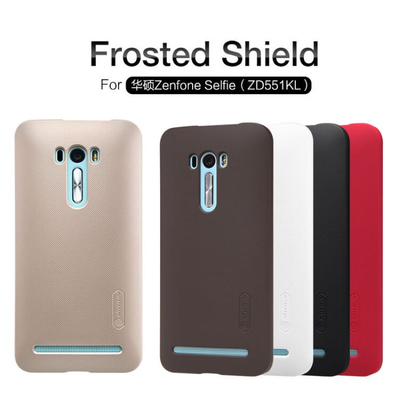 Nillkin Super Frosted Shield Matte cover case for Asus Zenfone Selfie (ZD551KL) + free screen protector order from official NILLKIN store