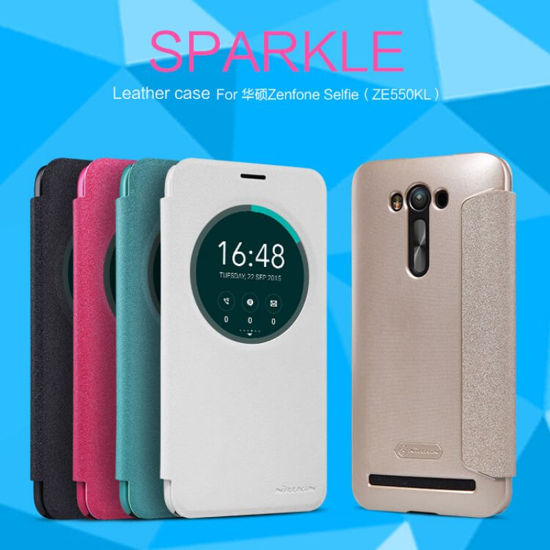 Nillkin Sparkle Series New Leather case for Asus Zenfone 2 Laser (ZE550KL) order from official NILLKIN store