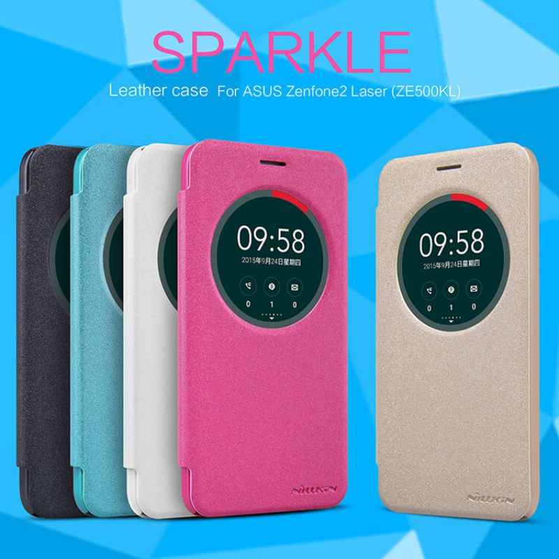Nillkin Sparkle Series New Leather case for ASUS ZenFone 2 Laser 5.0 (ZE500KL ZE500KG) order from official NILLKIN store