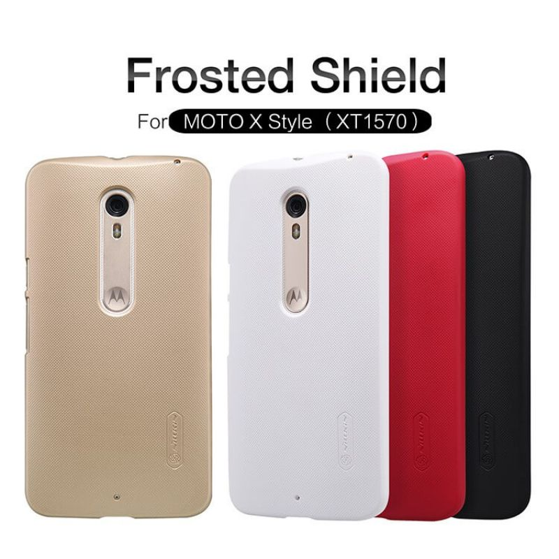 Nillkin Super Frosted Shield Matte cover case for Motorola Moto X Style + free screen protector order from official NILLKIN store