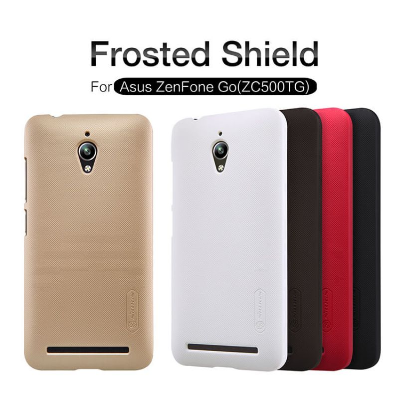 Nillkin Super Frosted Shield Matte cover case for Asus Zenfone Go (ZC500TG) + free screen protector order from official NILLKIN store
