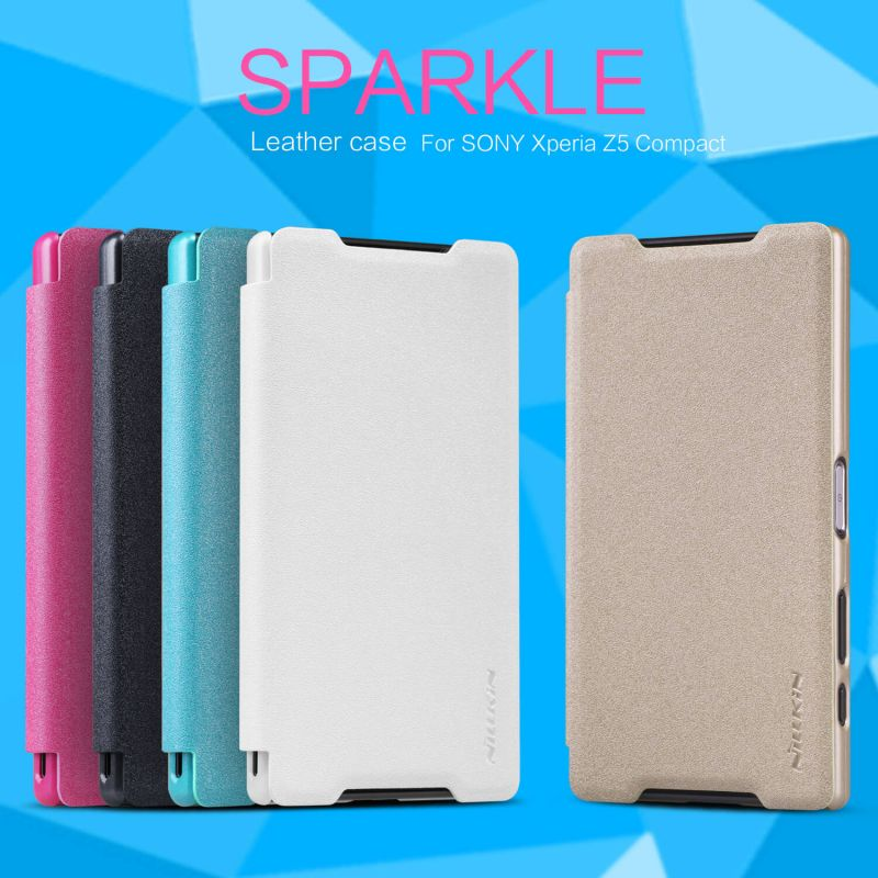 Nillkin Sparkle Series New Leather case for Sony Xperia Z5 Compact/Z5 mini/J5 Compact (E5803 E5823 J5 Compact Z5 mini 88) order from official NILLKIN store