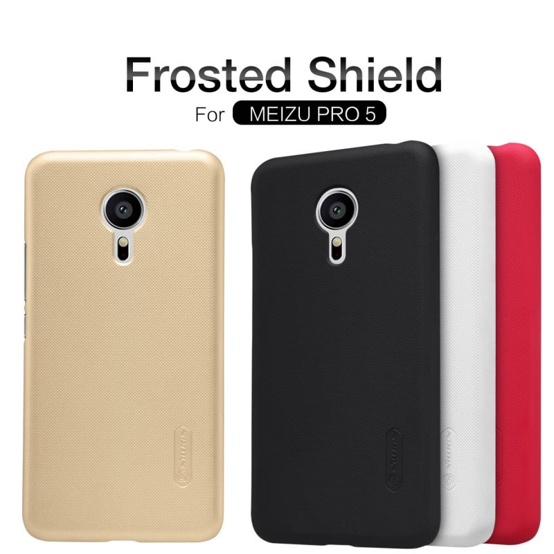Nillkin Super Frosted Shield Matte cover case for Meizu Pro 5 (MX Supreme M578CE M576 M576U) + free screen protector order from official NILLKIN store