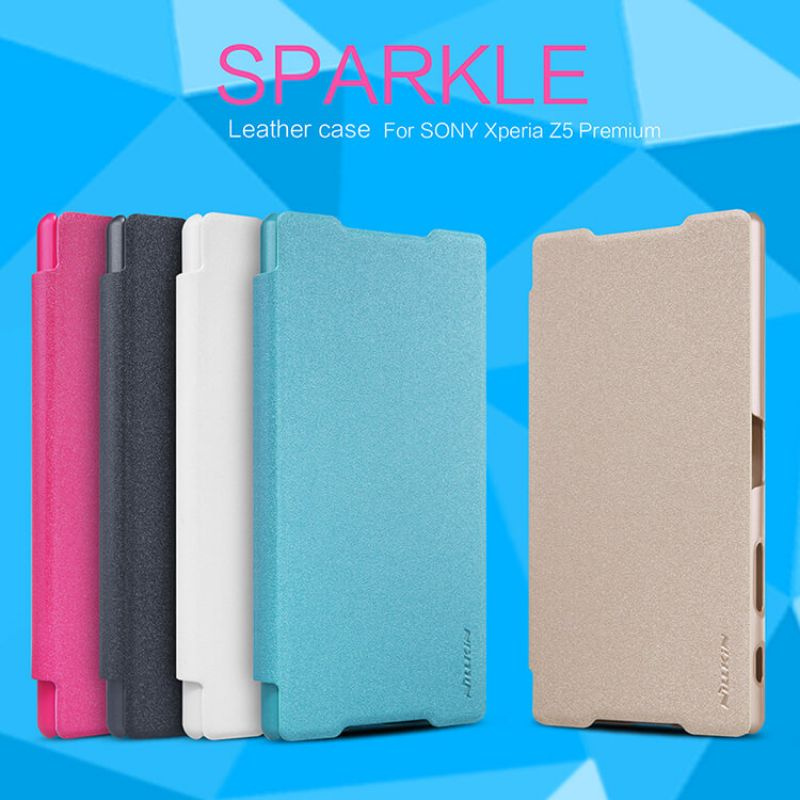 Nillkin Sparkle Series New Leather case for Sony Xperia Z5 Premium (Xperia Z5 Plus) order from official NILLKIN store