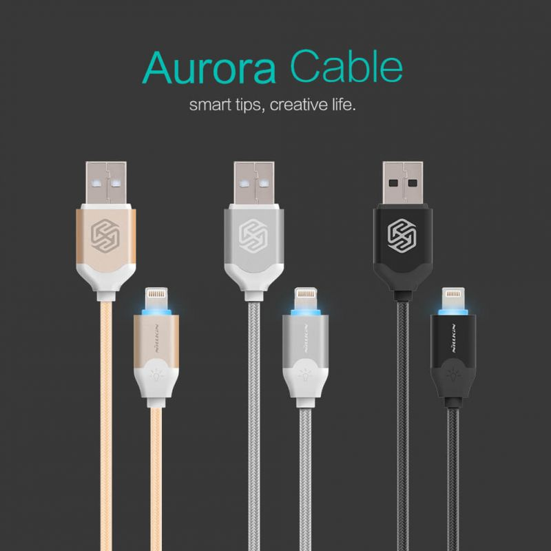 Nillkin Aurora Lightning high quality cable order from official NILLKIN store