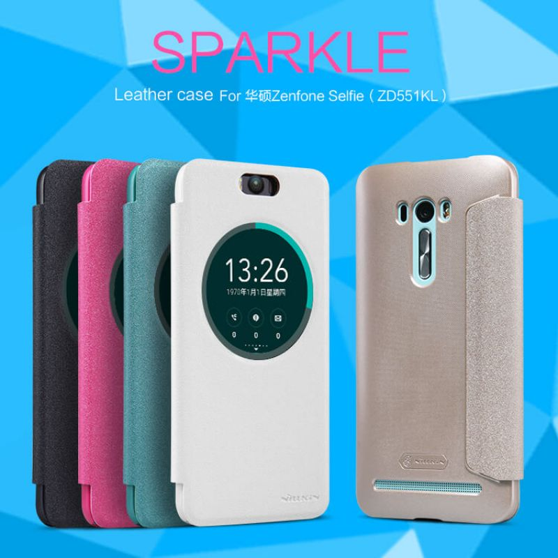 Nillkin Sparkle Series New Leather case for Asus Zenfone Selfie (ZD551KL) order from official NILLKIN store