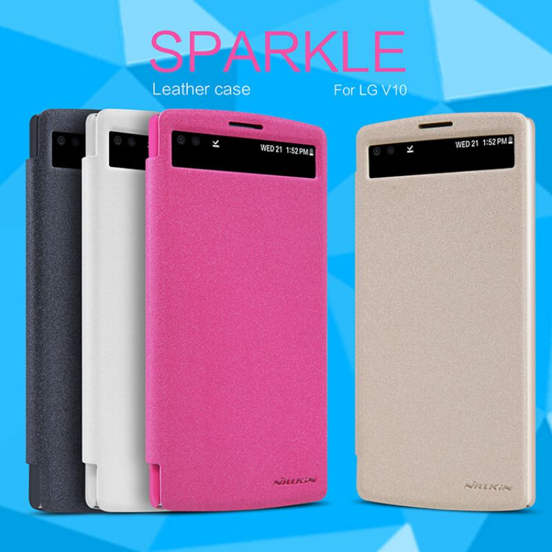 Nillkin Sparkle Series New Leather case for LG V10 (H968) order from official NILLKIN store