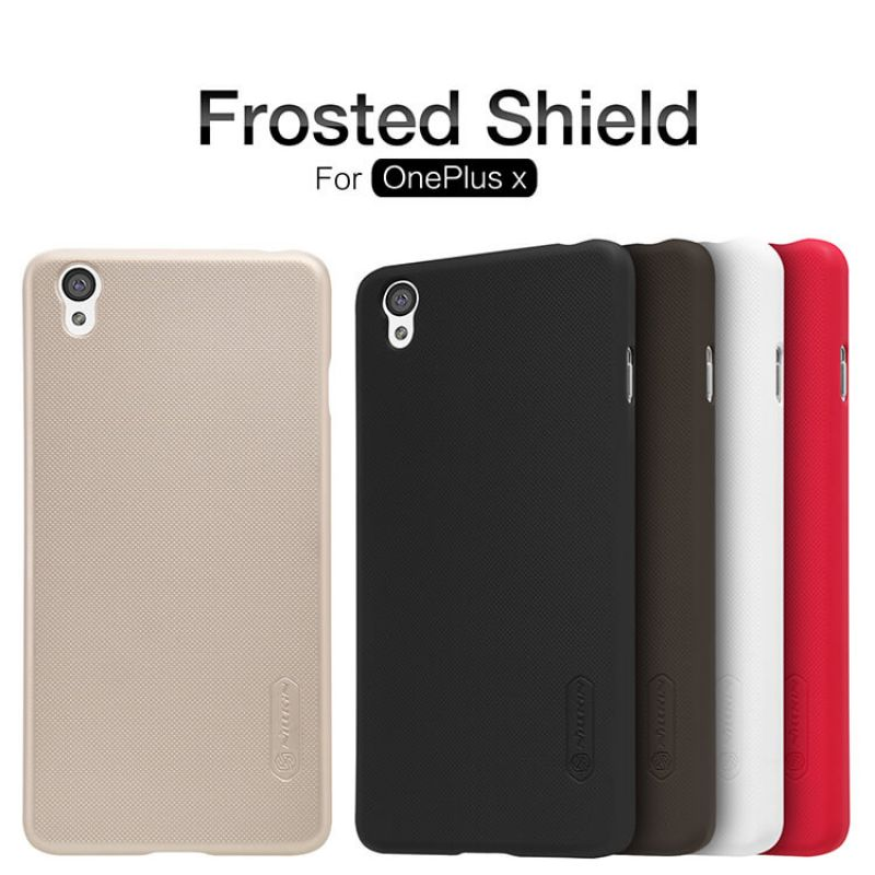 Nillkin Super Frosted Shield Matte cover case for OnePlus X (one plus X ONE E1001) + free screen protector order from official NILLKIN store