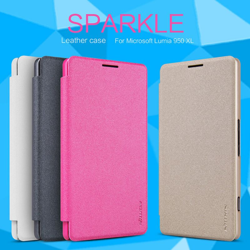 Nillkin Sparkle Series New Leather case for Microsoft Lumia 950XL order from official NILLKIN store