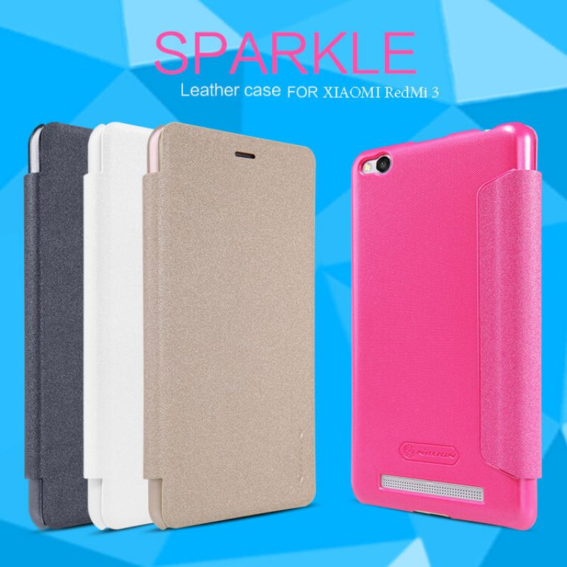Nillkin Sparkle Series New Leather case for Xiaomi Redmi 3 order from official NILLKIN store