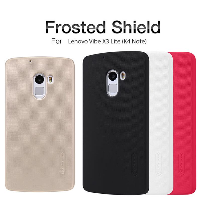 Nillkin Super Frosted Shield Matte cover case for Lenovo Vibe X3 Lite (K4 Note) + free screen protector order from official NILLKIN store