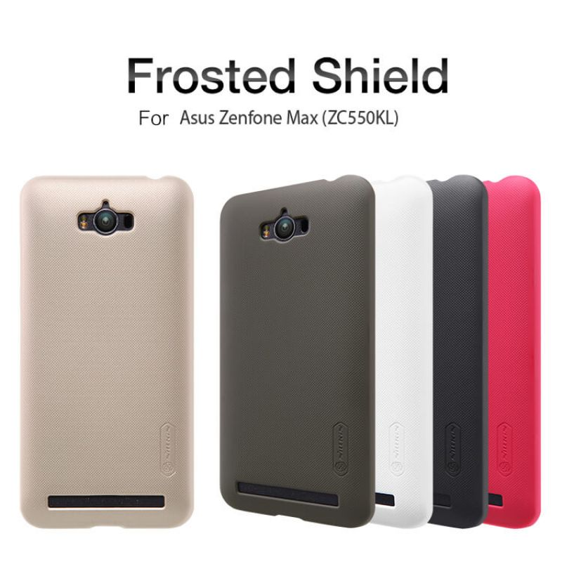 Nillkin Super Frosted Shield Matte cover case for Asus Zenfone Max (ZC550KL) + free screen protector order from official NILLKIN store