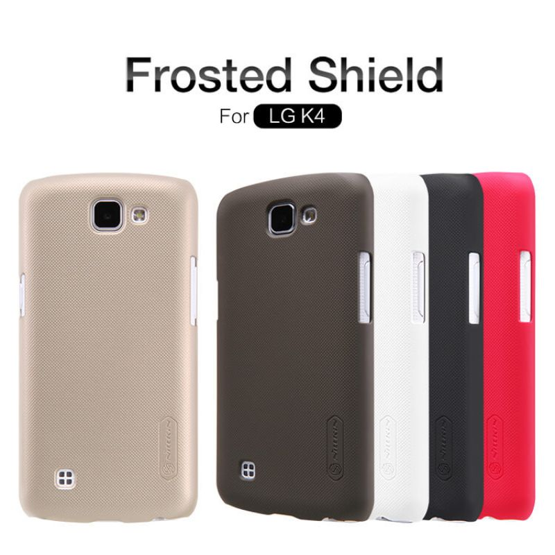 Nillkin Super Frosted Shield Matte cover case for LG K4 + free screen protector order from official NILLKIN store
