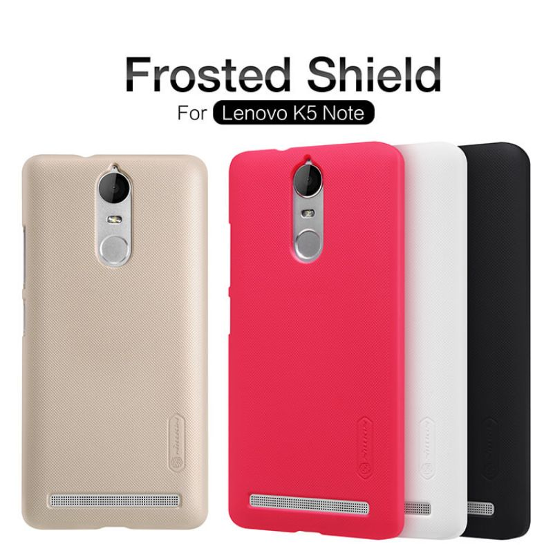 Nillkin Super Frosted Shield Matte cover case for Lenovo K5 Note + free screen protector order from official NILLKIN store