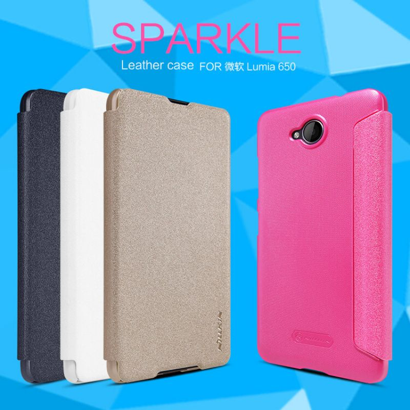 Nillkin Sparkle Series New Leather case for Microsoft Lumia 650 order from official NILLKIN store