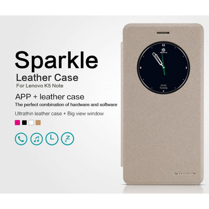 Nillkin Sparkle Series New Leather case for Lenovo K5 Note order from official NILLKIN store