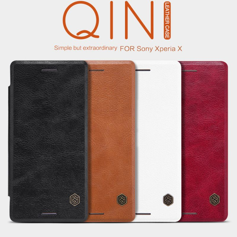 Nillkin Qin Series Leather case for Sony Xperia X order from official NILLKIN store
