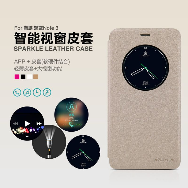 Nillkin Sparkle Series New Leather case for Meizu M3 Note/Meilan note3 (5.5) order from official NILLKIN store