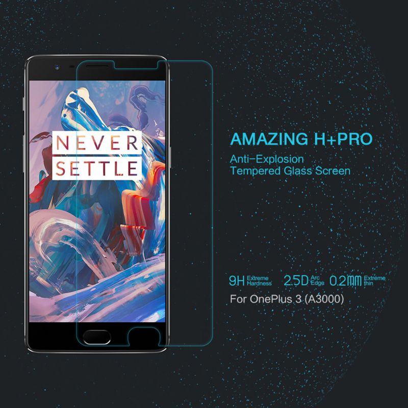 Nillkin Amazing H+ Pro tempered glass screen protector for Oneplus 3 / 3T (A3000 A3003 A3005 A3010) order from official NILLKIN store