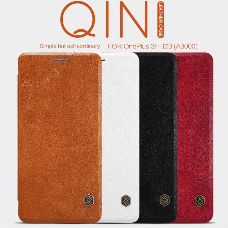 Nillkin Qin Series Leather case for Oneplus 3 / 3T (A3000 A3003 A3005 A3010) order from official NILLKIN store
