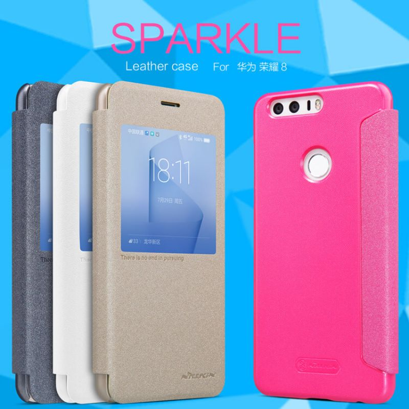 Nillkin Sparkle Series New Leather case for Huawei Honor 8 FRD-L09 FRD-L19 FRD-L04 FRD-DL00 FRD-AL10 FRD-AL00 order from official NILLKIN store