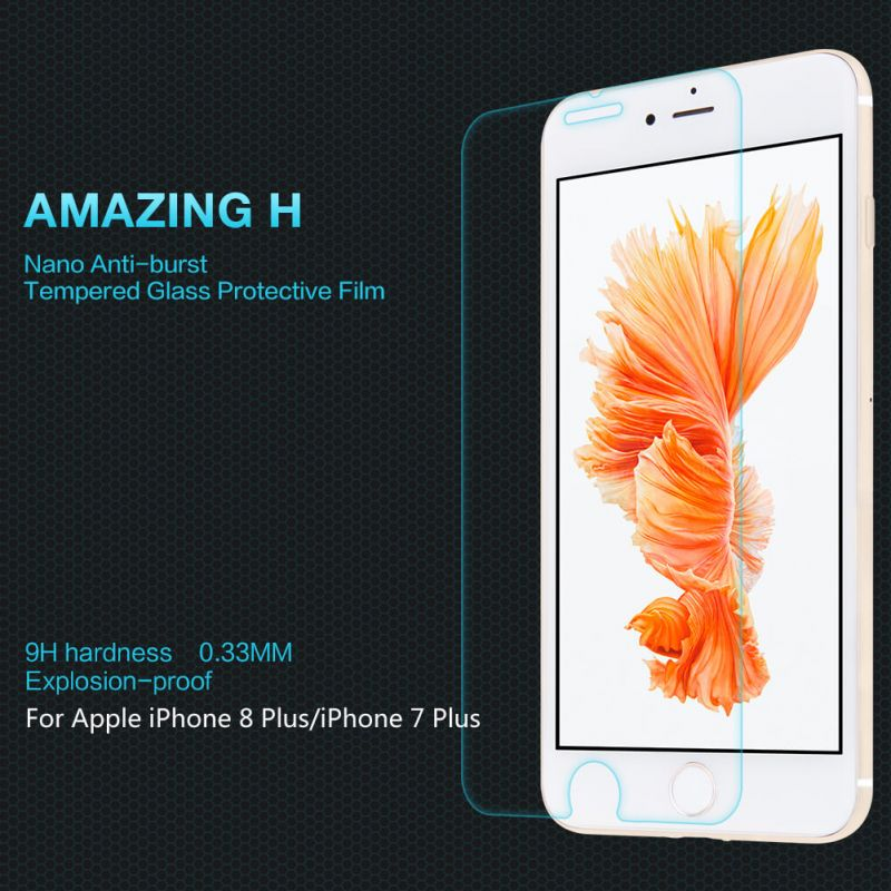 Nillkin Amazing H tempered glass screen protector for Apple iPhone 8 Plus / iPhone 7 Plus order from official NILLKIN store