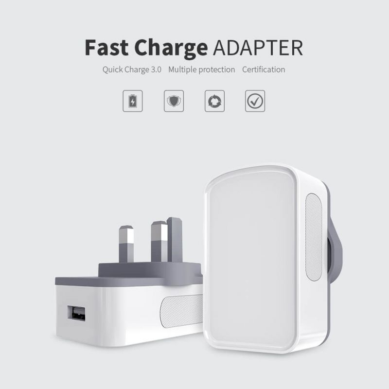 Nillkin Fast Charge Adapter with Quick Charge 3.0 support (UK Plug) order from official NILLKIN store